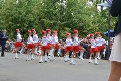 Podebrady, чехия: 18 6 2016: Команда majorettes, национальный чемпионат чехии Стоковые Фотографии RF