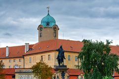 Podebrady chateau. Situated at the river Elbe - Czech Republic stock photos