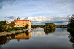 Podebrady chateau. Situated at the river Elbe - Czech Republic stock photo