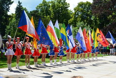 Podebrady, Czech Republic: 18. 6. 2016: Team of majorettes, National championship of the Czech Republic Royalty Free Stock Photo