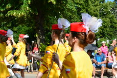Podebrady, Czech Republic: 18. 6. 2016: Team of majorettes, National championship of the Czech Republic Royalty Free Stock Photo