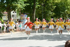 Podebrady, Czech Republic: 18. 6. 2016: Team of majorettes, National championship of the Czech Republic Royalty Free Stock Photography