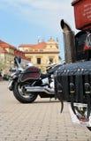 Podebrady Tjeckien 04 09 cykel 2017 på fyrkant royaltyfri fotografi