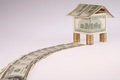 podejść kochany dolarów dom Fotografia Stock