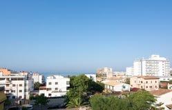 Podem os residentials e os hotéis de Pastilla Fotos de Stock