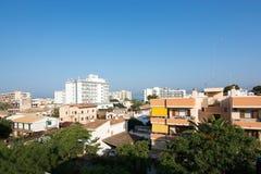 Podem os residentials e os hotéis de Pastilla Foto de Stock Royalty Free