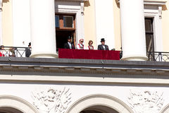 17 podem oslo Noruega na parte dianteira da família real Fotografia de Stock