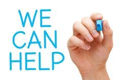 Podemos ayudar Foto de archivo libre de regalías