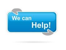 Podemos ayudar al tablero de mensajes Imagenes de archivo