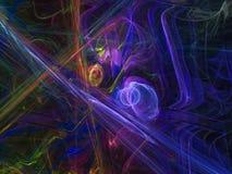 Poder abstrato do fundo da cor do fractal, rendendo a ilustração ilustração do vetor