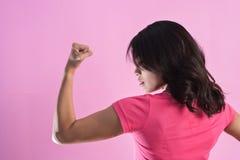 Poder asiático da mulher fotografia de stock royalty free