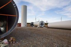 Poder das energias eólicas imagens de stock