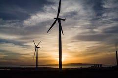 Poder das energias eólicas fotografia de stock