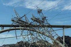 Poder das fontes da barragem Hoover a Las Vegas e aos condados circunvizinhos foto de stock