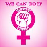Poder das mulheres Foto de Stock Royalty Free