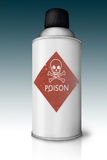 Poder de aerosol con Imagen de archivo libre de regalías