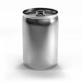 Poder de aluminio aislada de la bebida Imagen de archivo libre de regalías