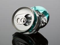 Poder de bebida arrugada Fotografía de archivo libre de regalías