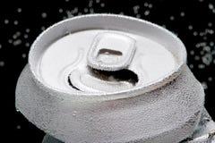 Poder de bebida arrugada con las burbujas macras Imágenes de archivo libres de regalías