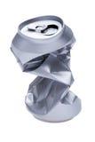 Poder de bebida arrugada en blanco Imagen de archivo libre de regalías