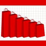 Poder de compra de perda Imagens de Stock