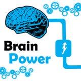 Poder de cérebro Imagem de Stock