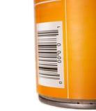 Poder de estaño genérica del alimento con clave de barras Imagen de archivo libre de regalías
