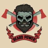 Poder de la barba Imágenes de archivo libres de regalías