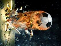 Poder de la bola de fuego del fútbol fotografía de archivo