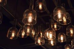Poder de la electricidad de la luz de bulbos de lámpara Fotografía de archivo libre de regalías