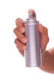 Poder de la mano y del aerosol Imágenes de archivo libres de regalías