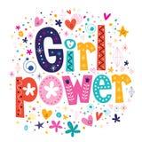 Poder de la muchacha Imagen de archivo libre de regalías