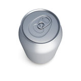 Poder de soda de aluminio en el fondo blanco Imagen de archivo