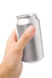 Poder de soda en blanco de plata foto de archivo libre de regalías
