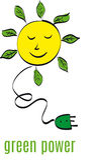 Poder de Sun imagem de stock royalty free