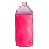 Poder del aerosol La pintura de espray puede o el espray del desodorante, laca Graf Fotografía de archivo