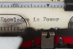 Poder del conocimiento Imagen de archivo libre de regalías