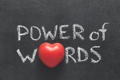 Poder del corazón de las palabras fotos de archivo