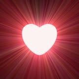 Poder do alargamento claro de incandescência do coração do amor ilustração royalty free