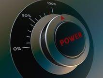 Poder do botão Imagem de Stock