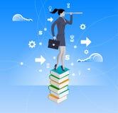 Poder do conceito do negócio do conhecimento ilustração royalty free