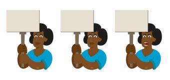 Poder do feminismo das mulheres negras Imagens de Stock