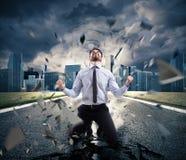 Poder do homem de negócios bem sucedido Conceito da determinação fotos de stock royalty free