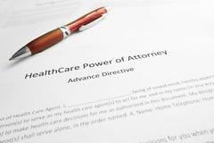Poder dos cuidados médicos do advogado fotografia de stock