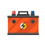 Poder e eletricidade da energia da bateria do acumulador Foto de Stock