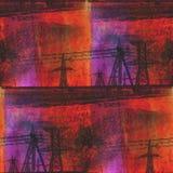 Poder marrón anaranjado del arte de la acuarela del fondo ilustración del vector