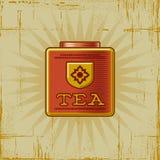 Poder retra del té Fotografía de archivo libre de regalías