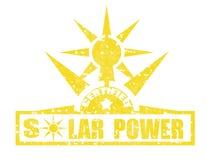 Poder-selo solar Foto de Stock Royalty Free