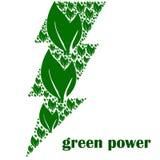 Poder verde stock de ilustración