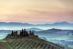Podere Belvedere - Val D'Orcia Stock Photography